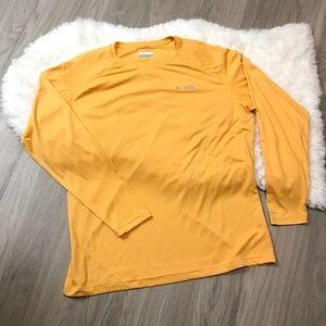 Columbia PFG Gold Yellow Long Sleeve Shirt XL
